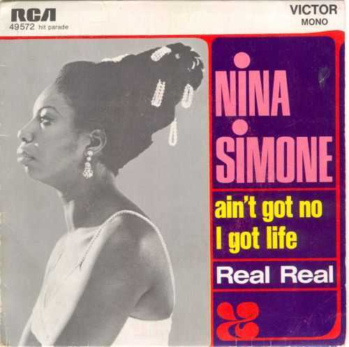 Nina Simone - Ain't Go No I Got Life 7'' RCA Pictire Sleeve '1968